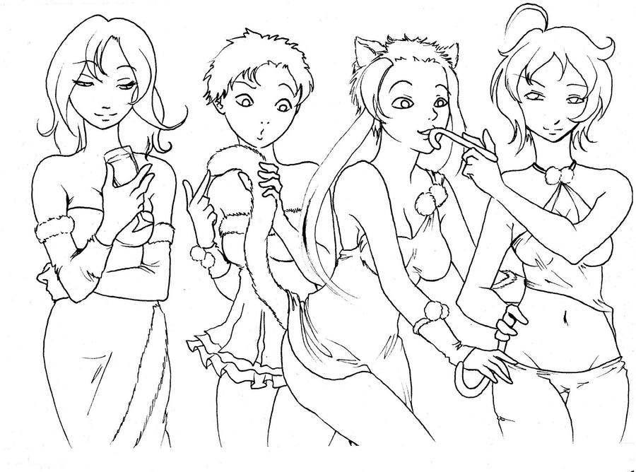 bd ladies lineart by NanakoHarrison