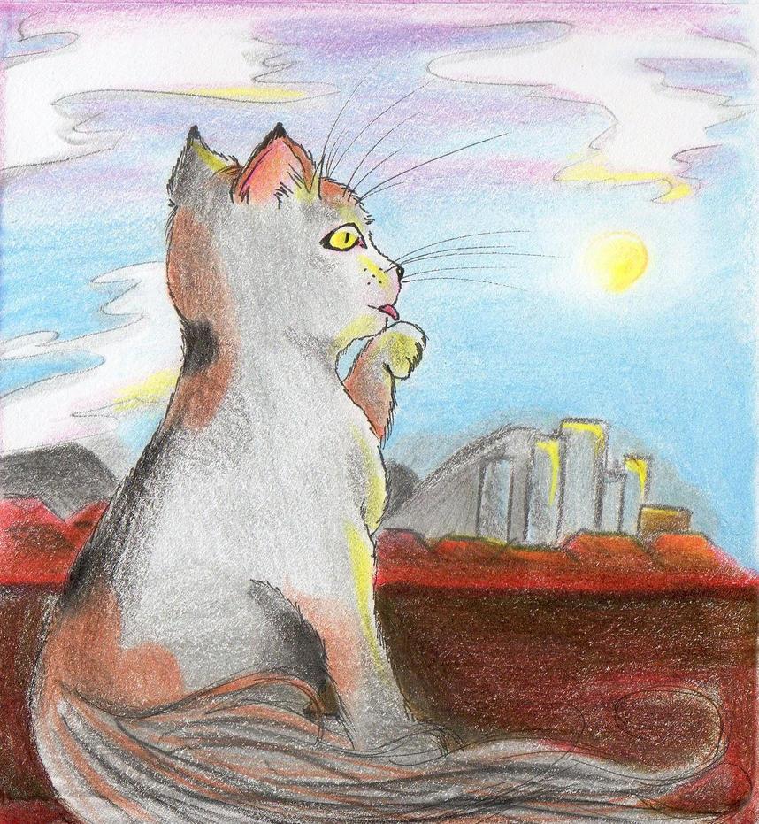winter cat 3 by NanakoHarrison