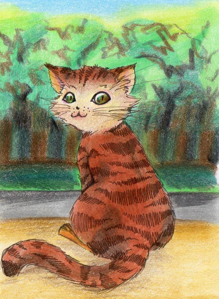 winter cat 4 by NanakoHarrison