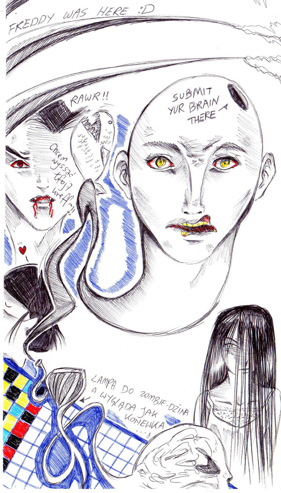 horror sketch dump by NanakoHarrison