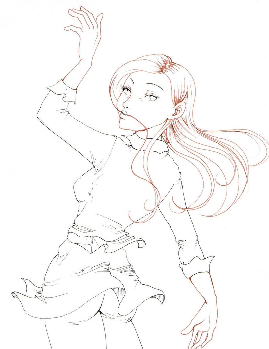 Teen Gwen lineart by NanakoHarrison