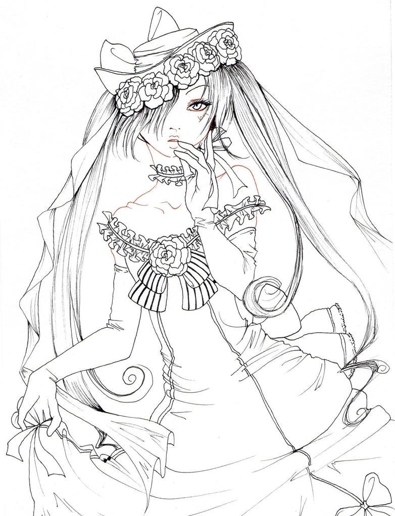 Lady Ciel Lineart By Nanakoharrison On Deviantart Anime Coloring Pages Deviantart Free