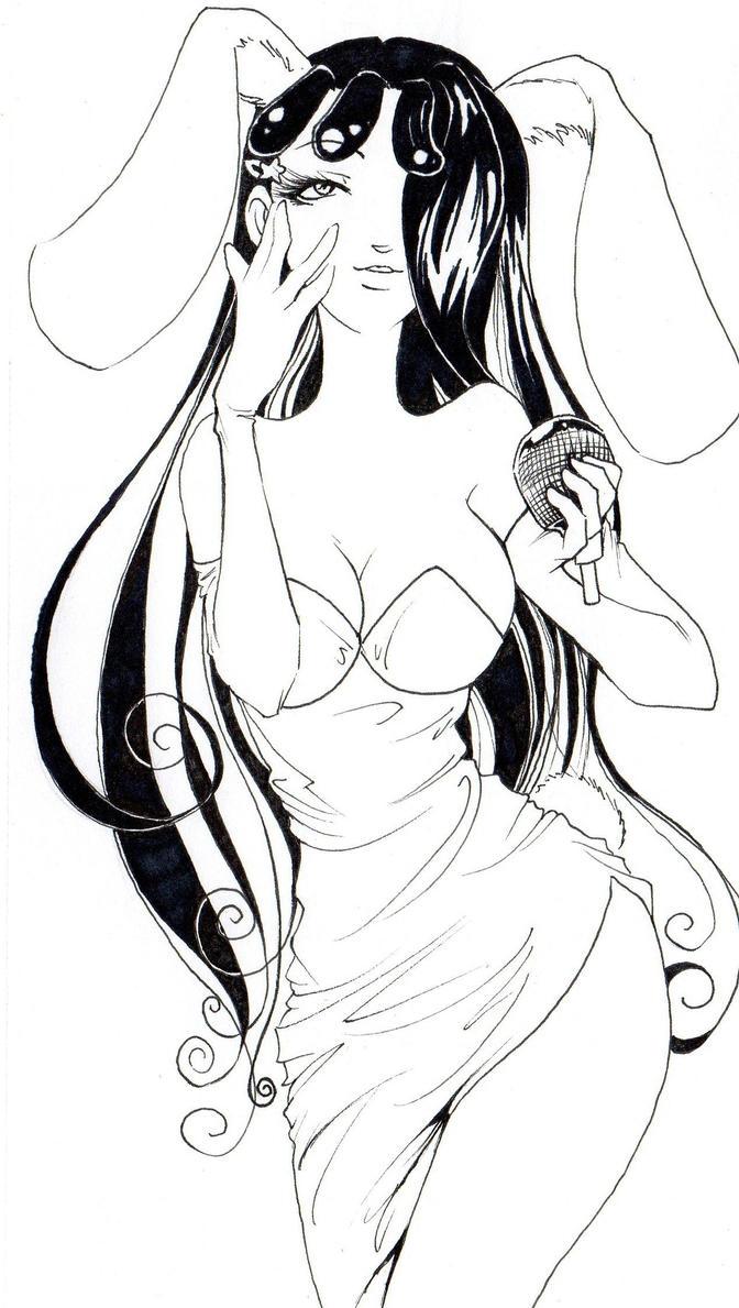 Margot Rabbit lineart by NanakoHarrison