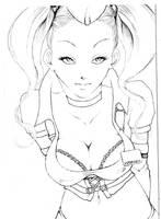 COM lineart: Harley Quinn by NanakoHarrison