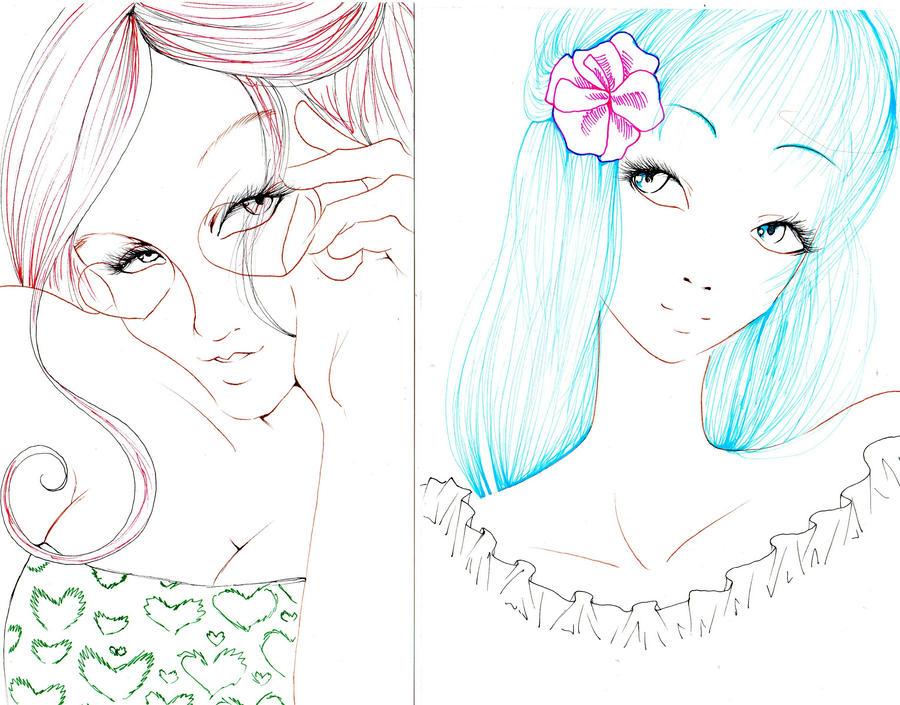 midori and yampuff oc by NanakoHarrison
