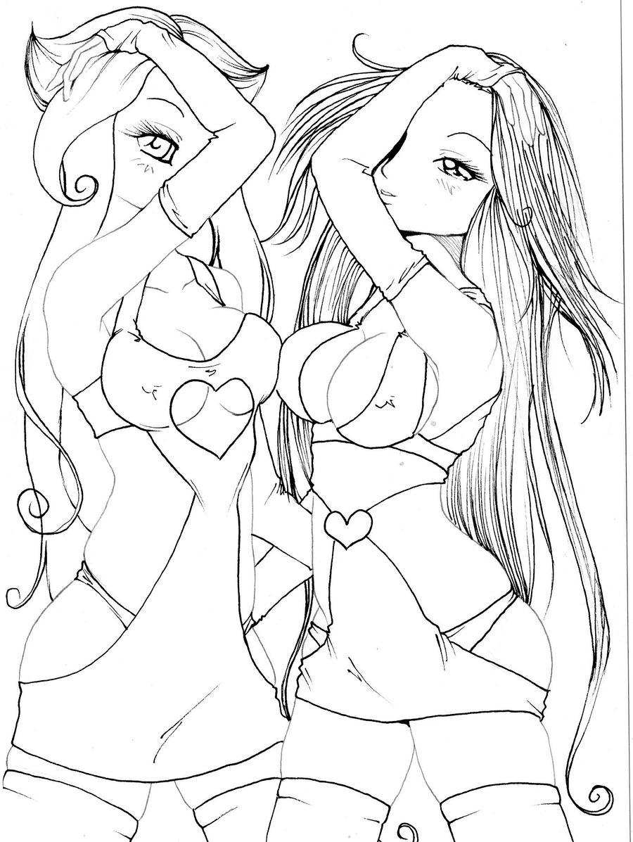 2 sexy ladies by NanakoHarrison