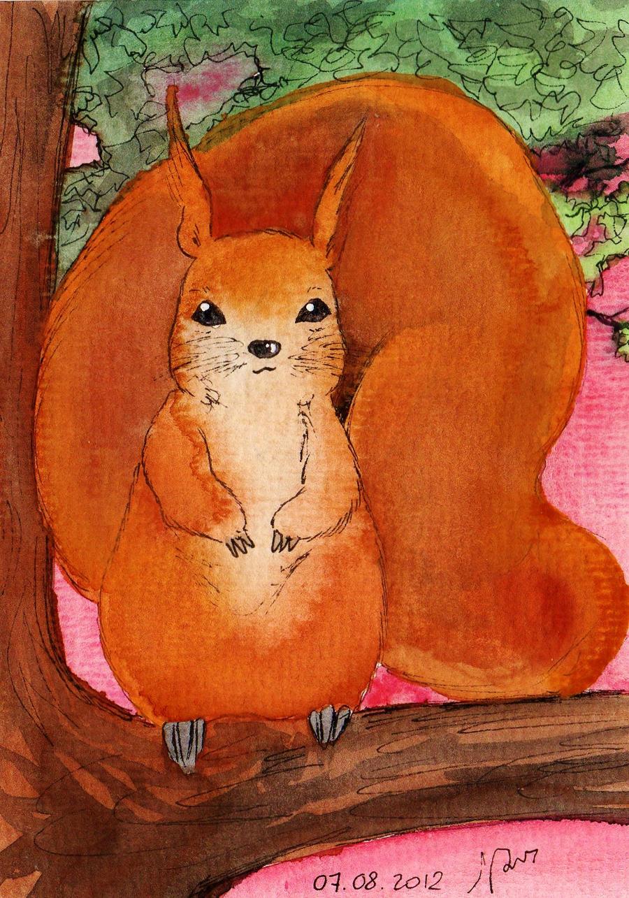 Kawaii Squirrel by NanakoHarrison