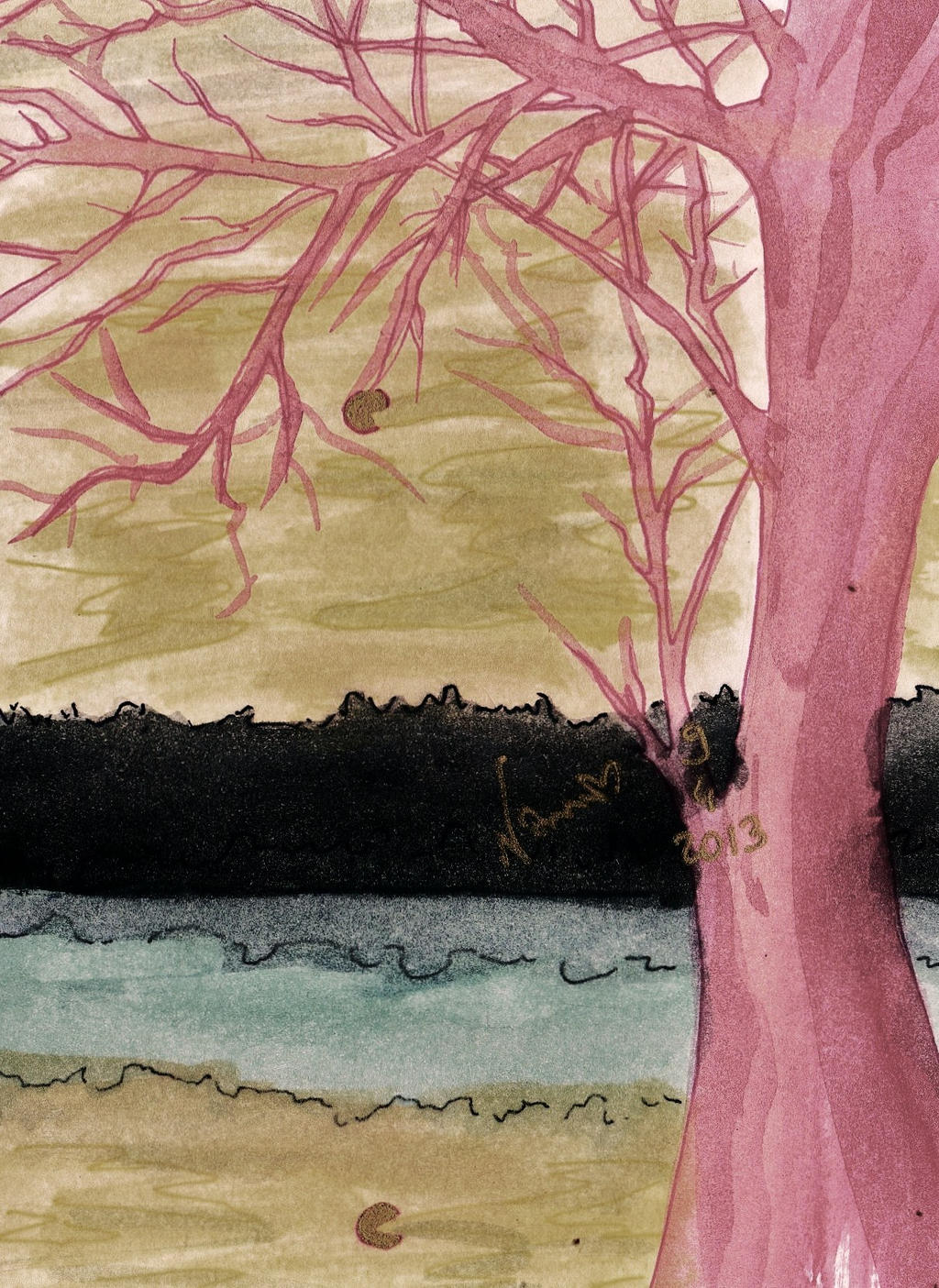 sad tree by NanakoHarrison