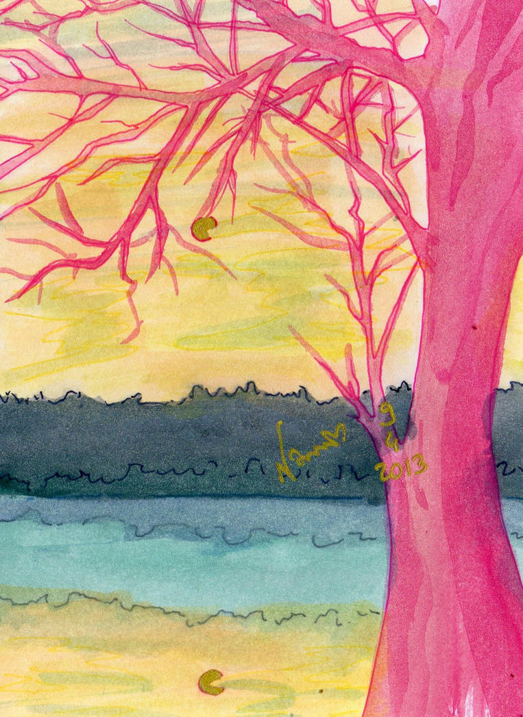 calm tree by NanakoHarrison