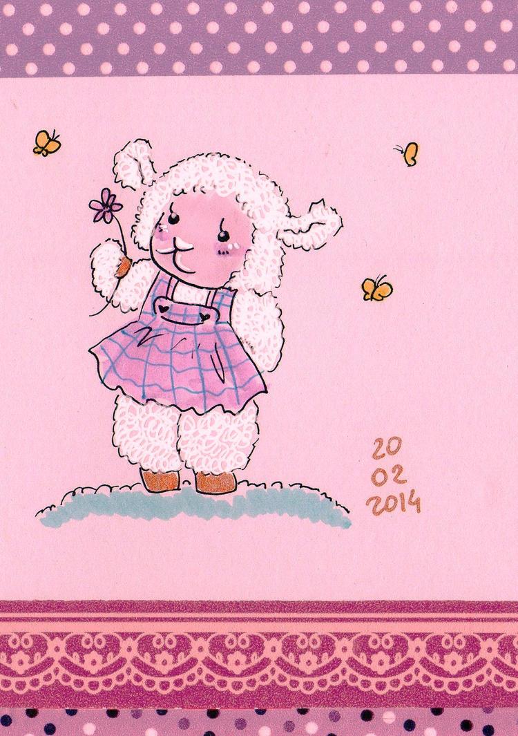 a cute sheep by NanakoHarrison