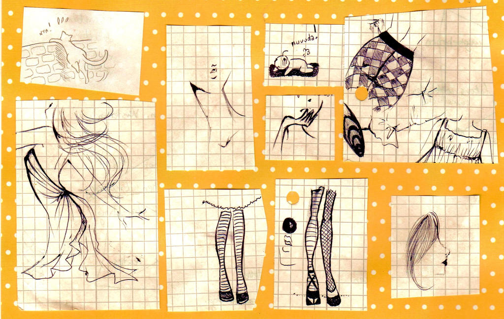 doodles - yellow polka dot by NanakoHarrison