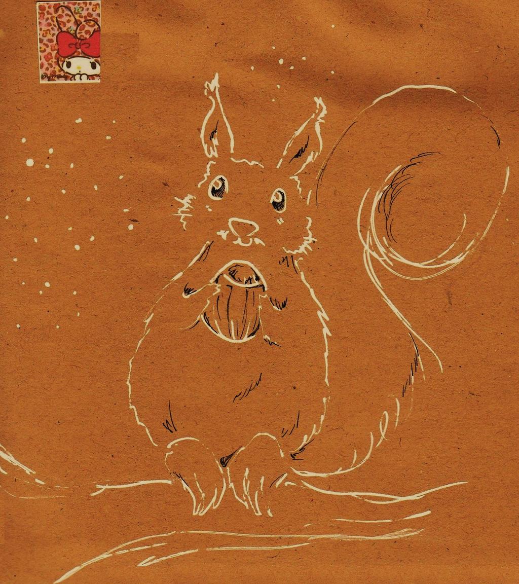 envelope: a squirrel by NanakoHarrison