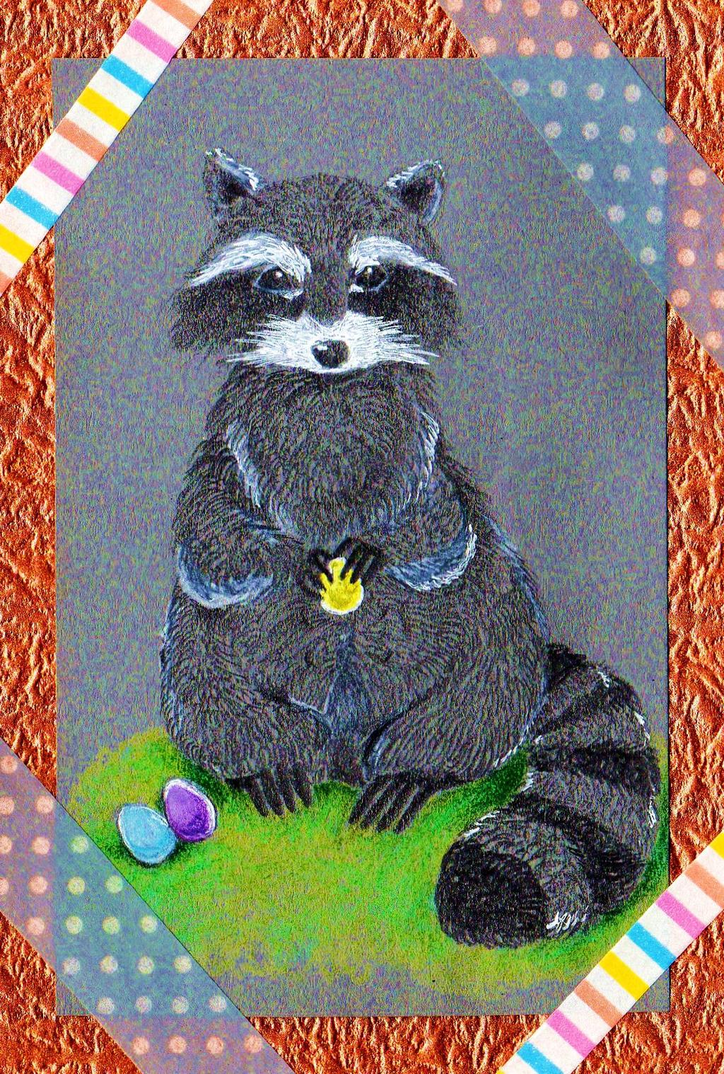Cute Easter Raccoon XD by NanakoHarrison