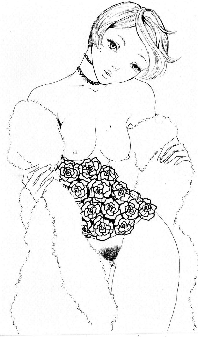 corset and fur by NanakoHarrison