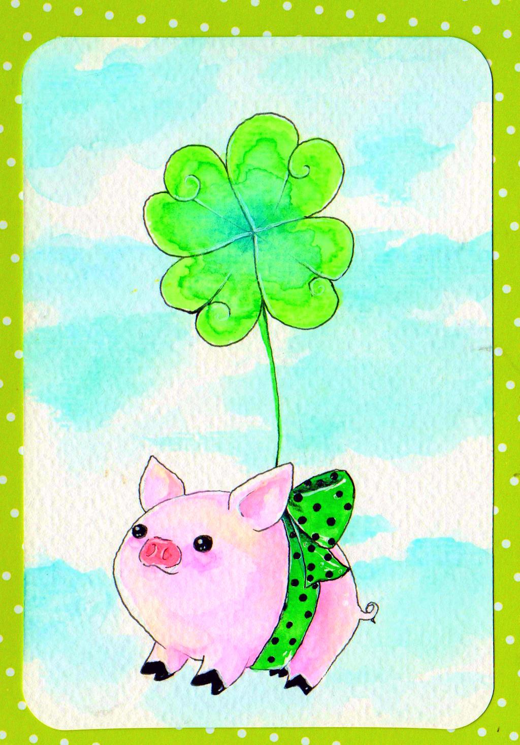 Piggy in Green by NanakoHarrison