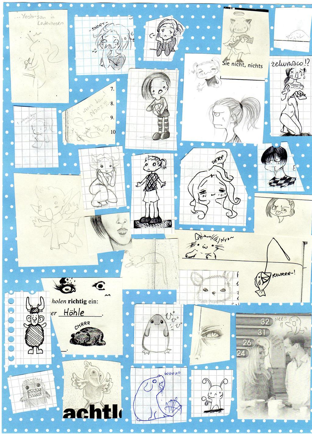 School doodles 2012 by NanakoHarrison