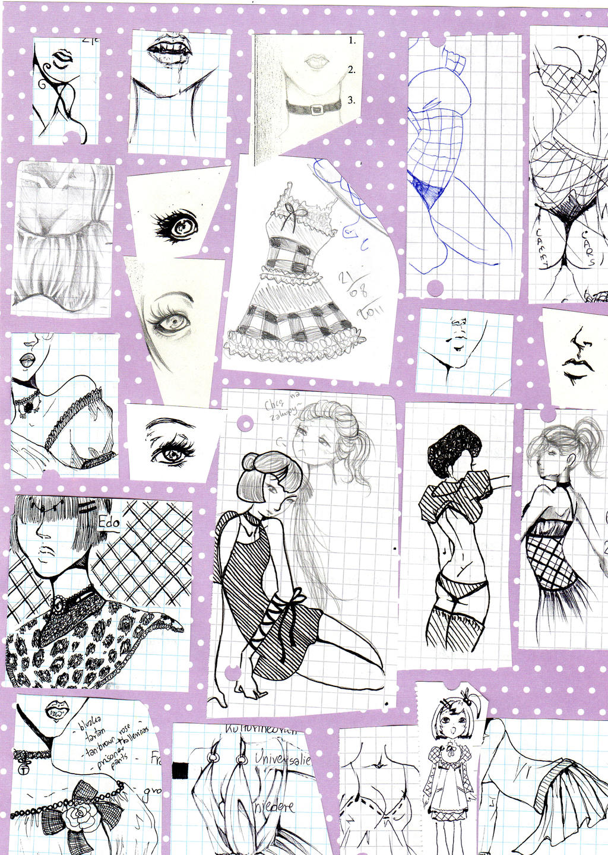 School doodles FASHION by NanakoHarrison