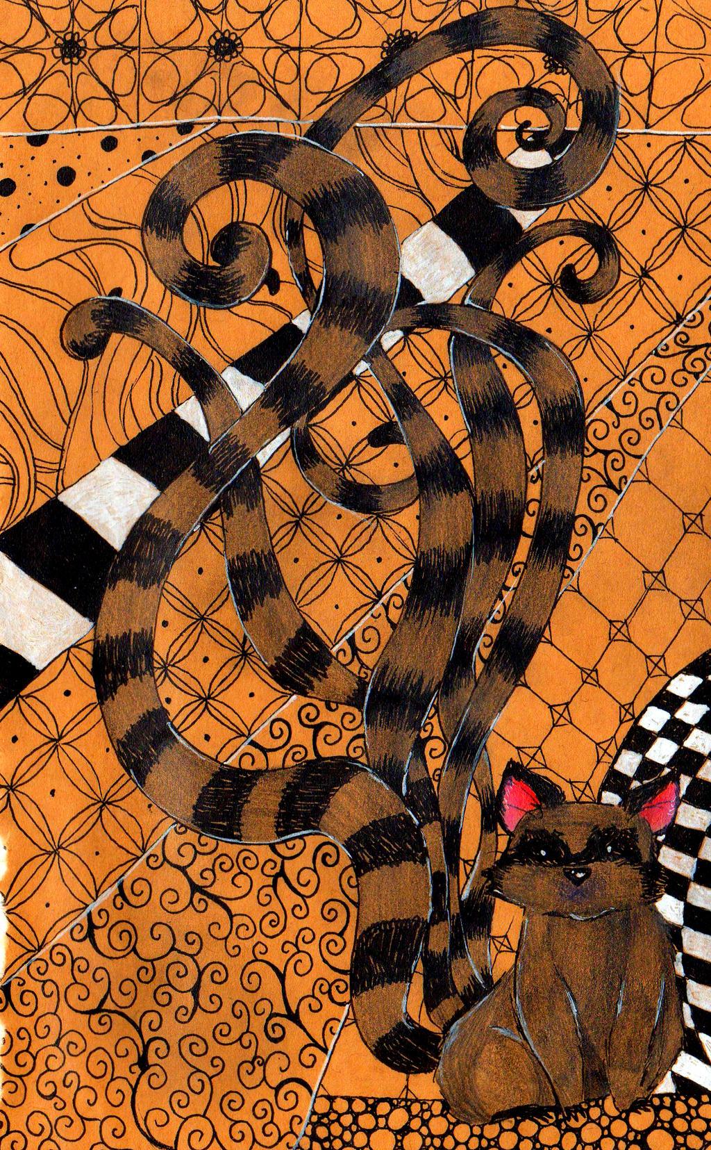 Octoracoon in zentangles by NanakoHarrison