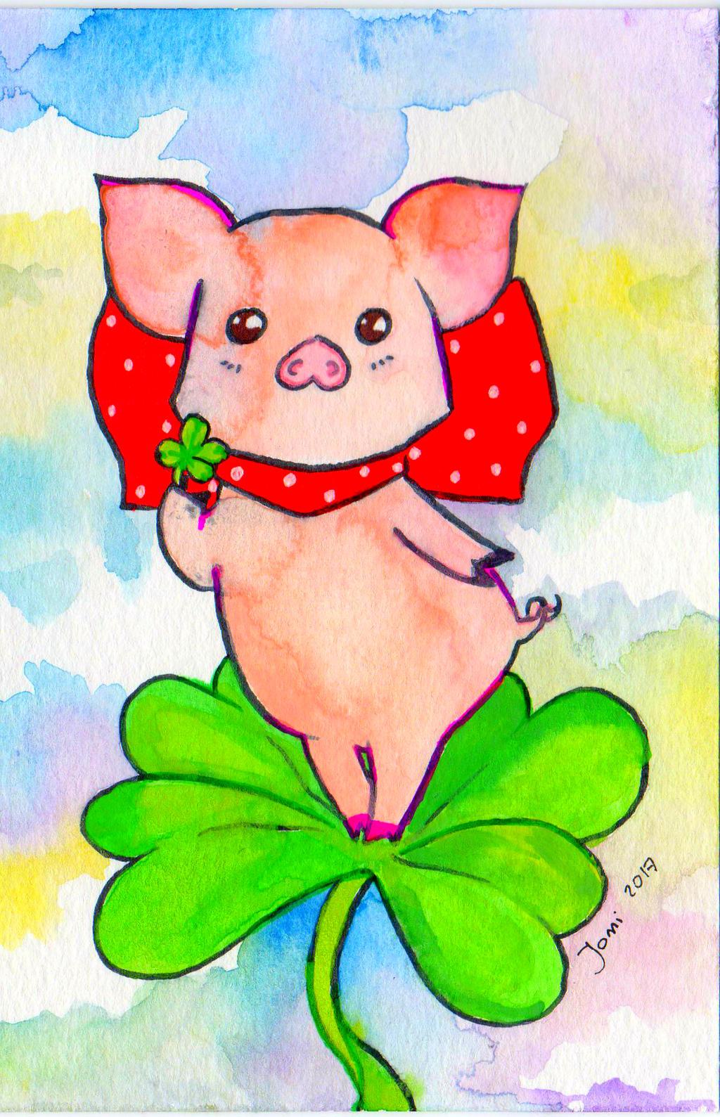 Cute Piggy 2017 by NanakoHarrison