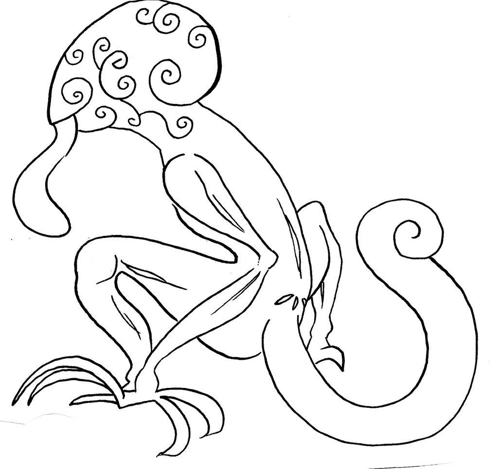 Alien the doodle by NanakoHarrison
