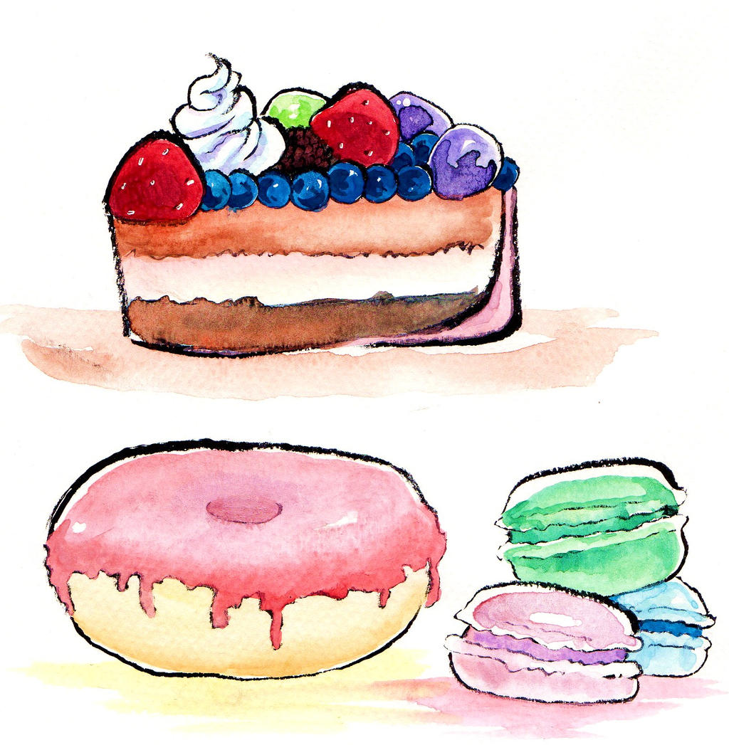 Yummy watercolor practice by NanakoHarrison