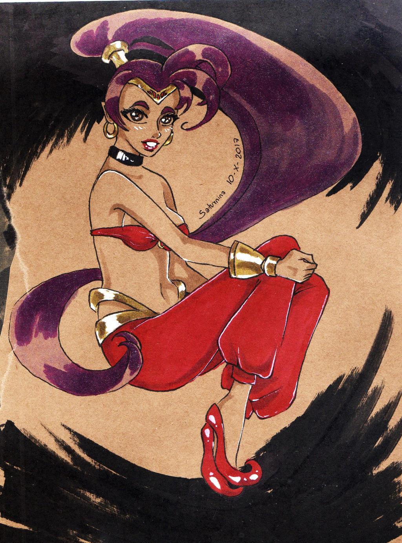 Inktober Day 10 Shantae by NanakoHarrison