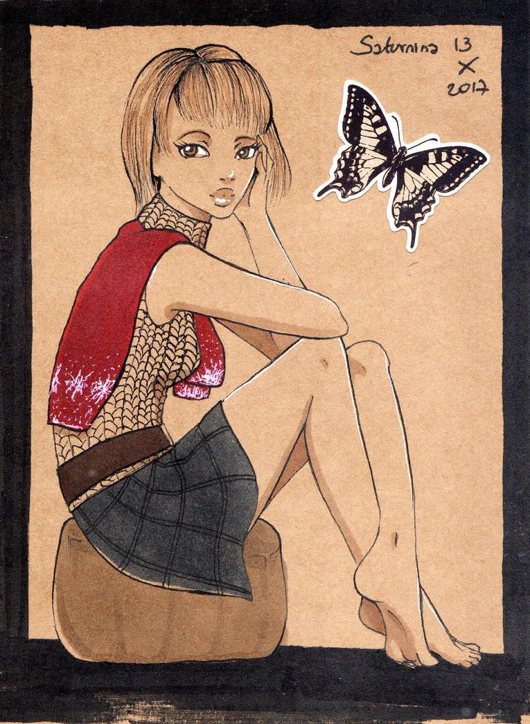 Inktober Day 13 Ashley Graham by NanakoHarrison