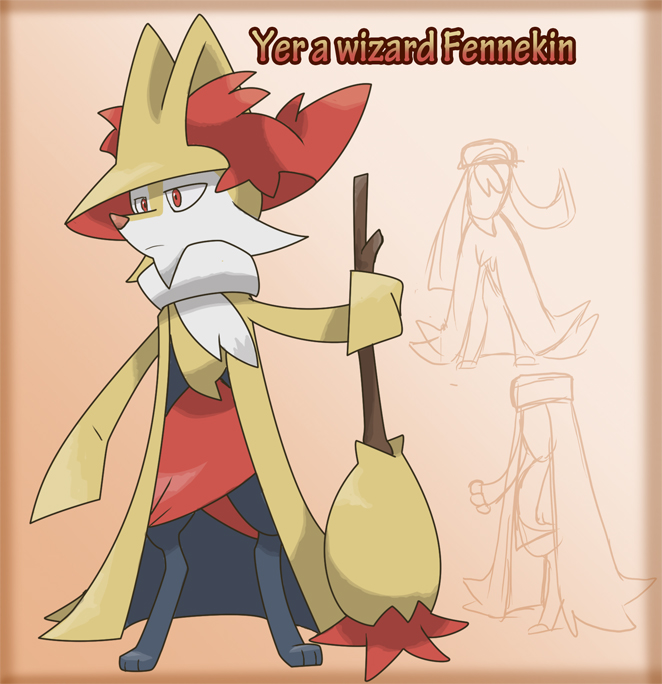 Yer a wizard fennekin by Animatics