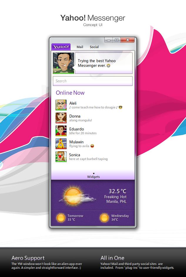 Yahoo Messenger - Concept UI by ilifino