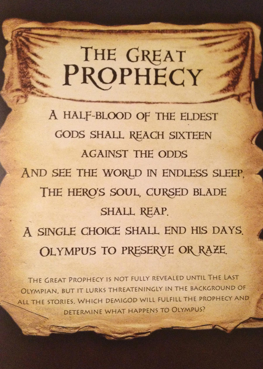 The First Great Prophecy from PJatO by Artemis015