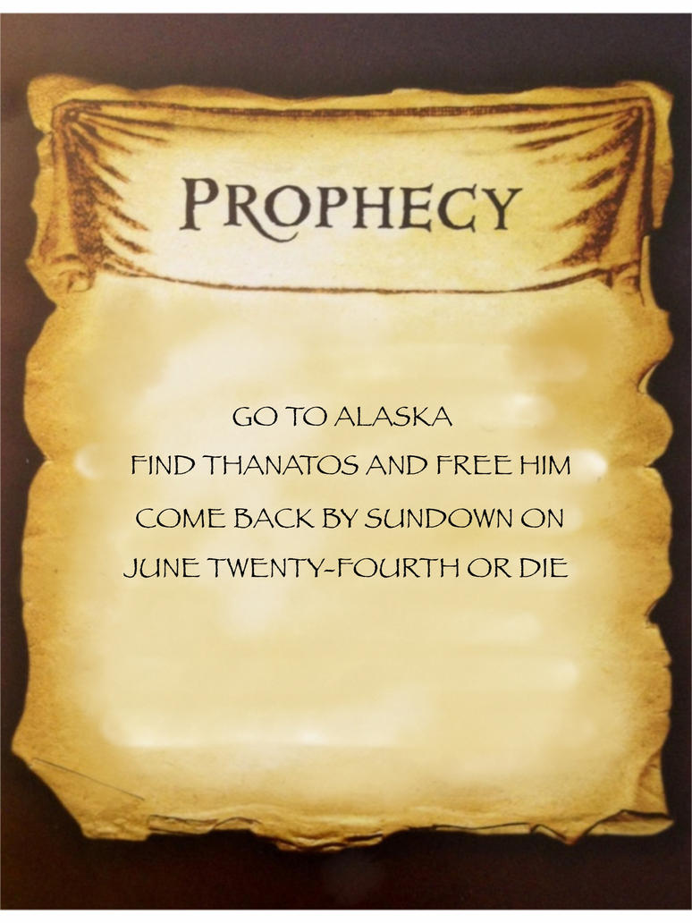 Frank's Quest Prophecy (from Daddy) by Artemis015