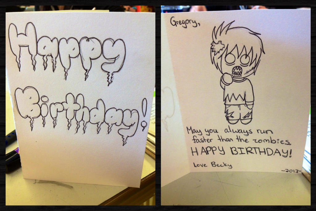 Walking dead birthday card wip by artemis015 on deviantart walking dead birthday card wip by artemis015 m4hsunfo