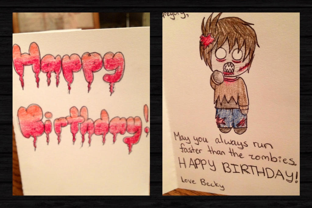 Walking Dead Birthday Card by Artemis015