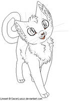 Kitty Line Art by SacerLupus