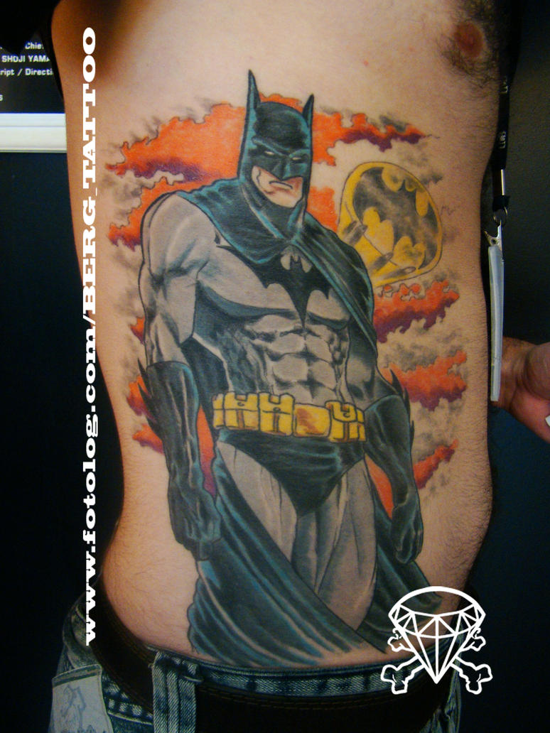batman tattoo by b-e-r-g