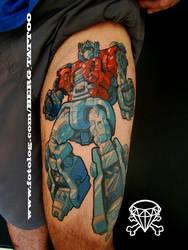 optimus prime tattoo by b-e-r-g