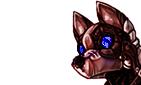 Pet button - headshot - left by shadowspirit07