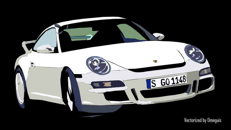 finished porsche 911 vector by omeguis
