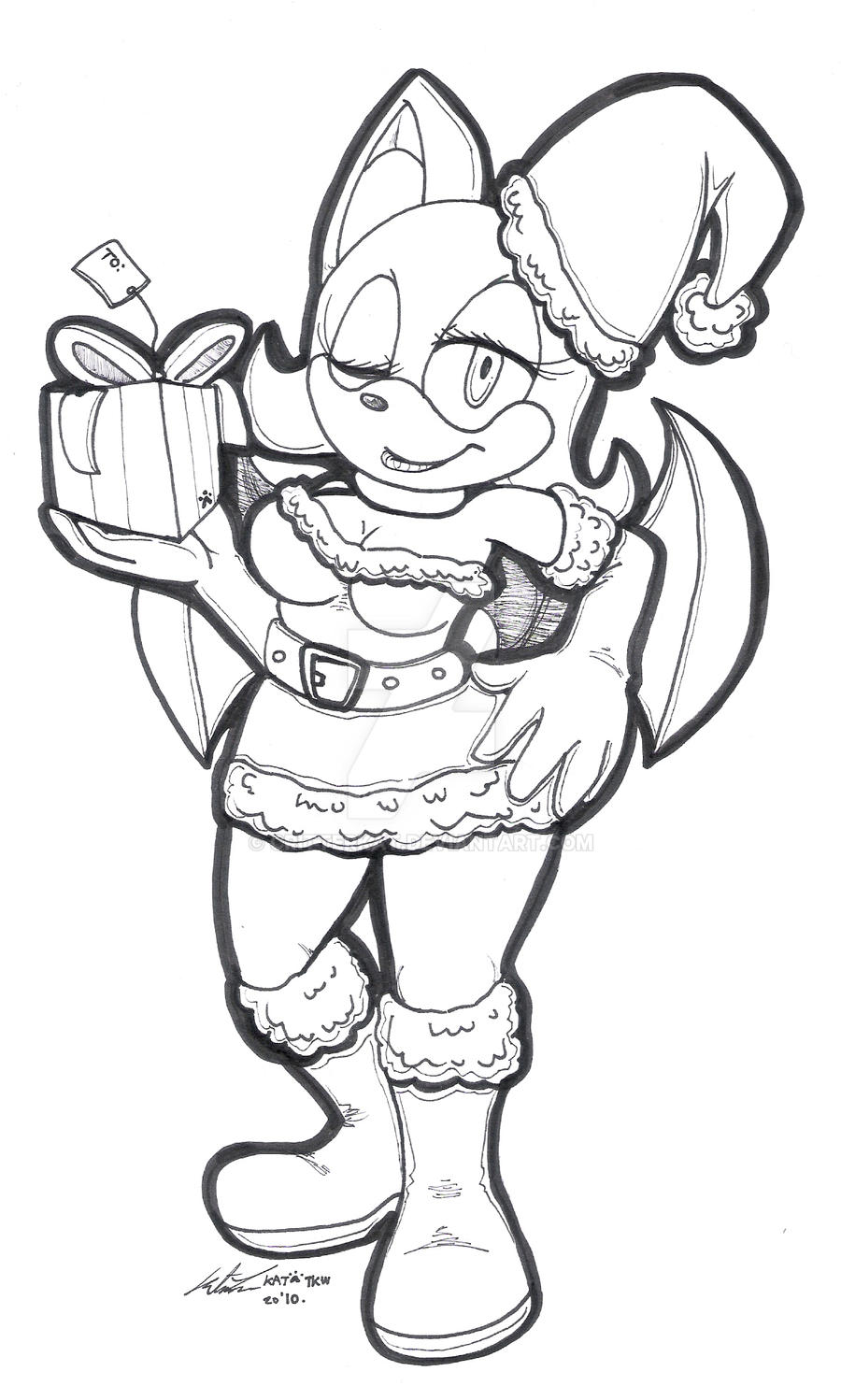WIP. Christmas Rouge by CritterKat