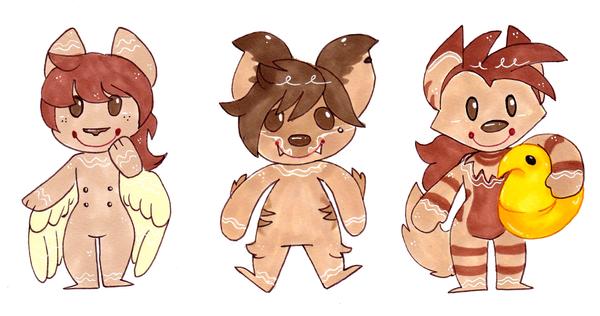 Gingerbread Cheebs 02 by CritterKat