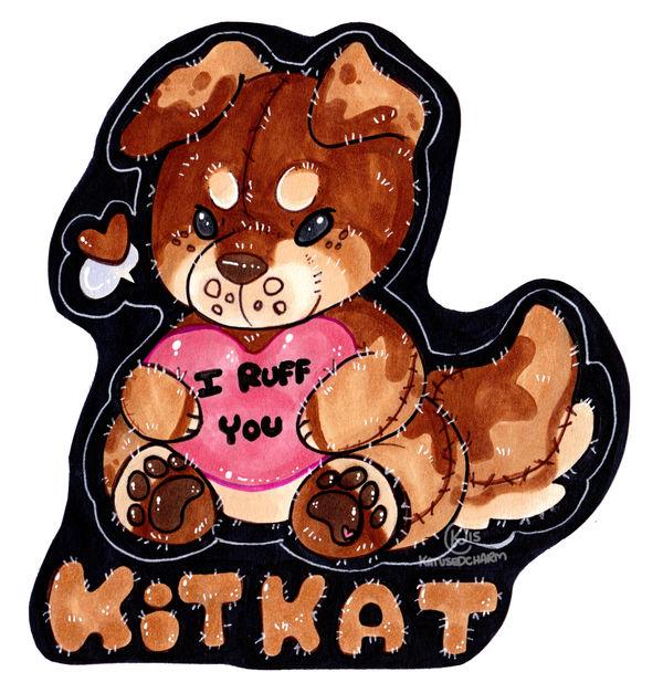 Plush Kitkat Badge [Open for Commission]