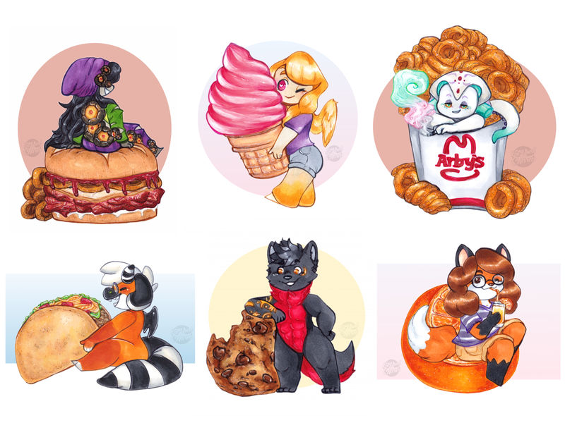 Food Lovers Drawing Ver. [Sold YCH Commissions]