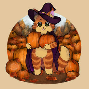 Pumpkin Patch Cat [ALT. Halloween Costume]