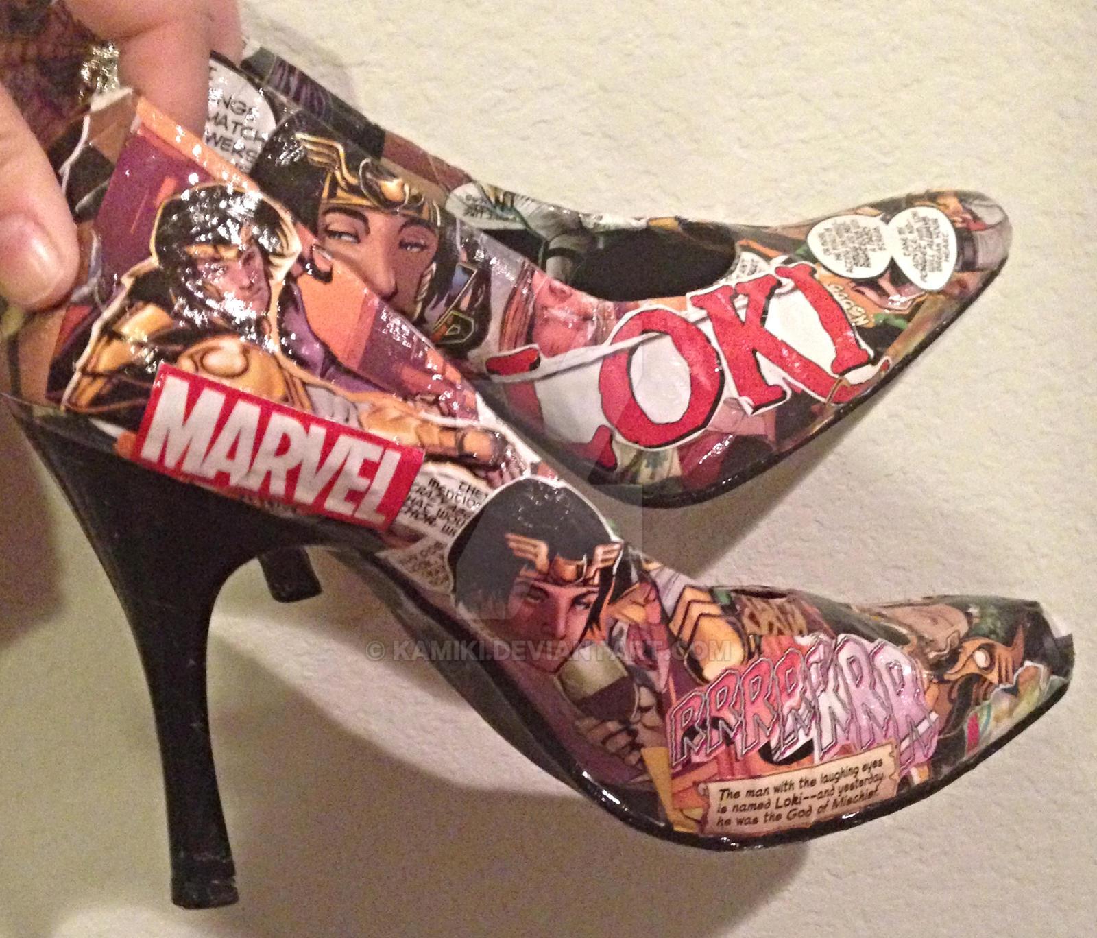 Custom Loki Comic Shoes by kamiki