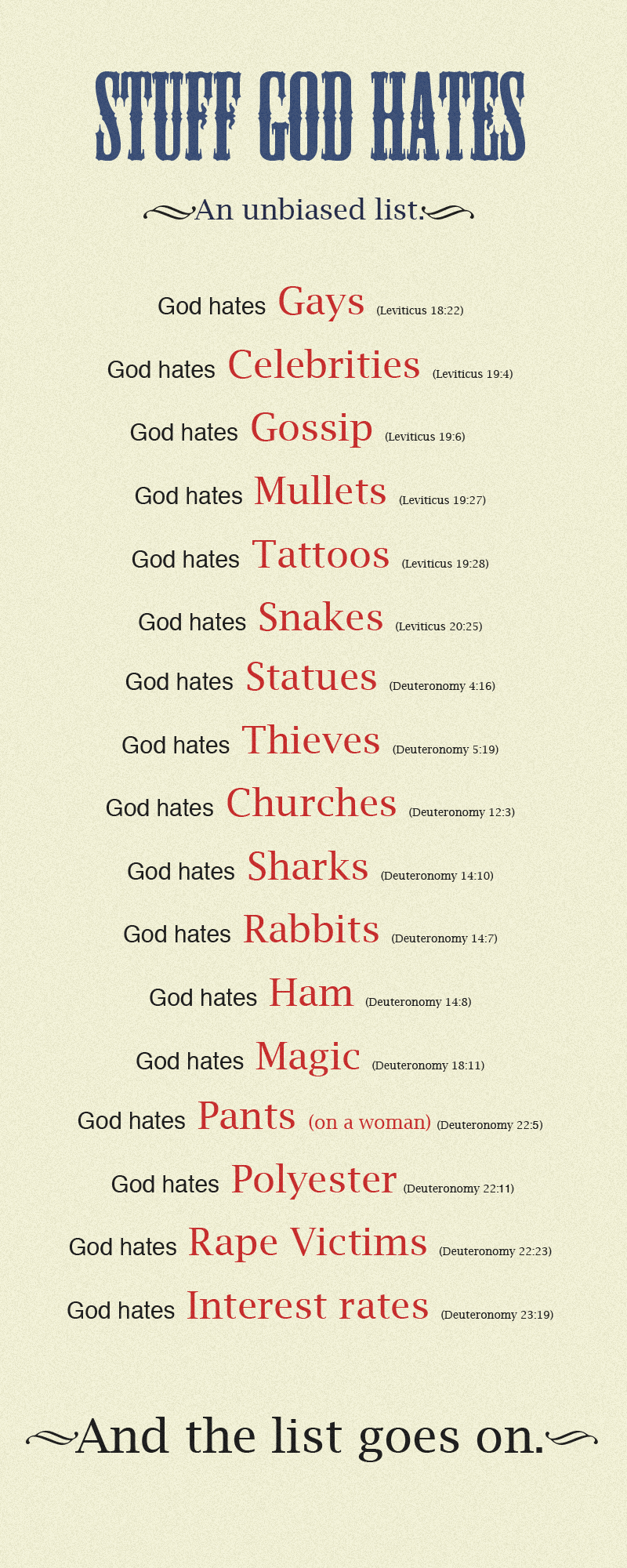 Stuff God Hates by trezoid