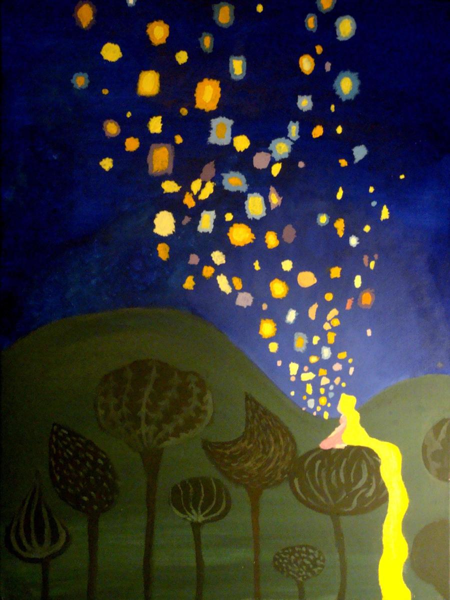 Tangled Floating Lights By Sakiree On Deviantart