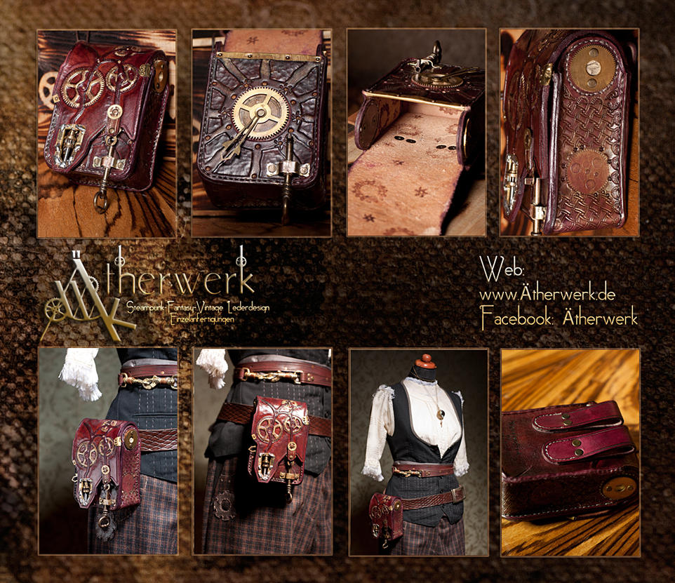 Clockworkers belt bag by Aetherwerk