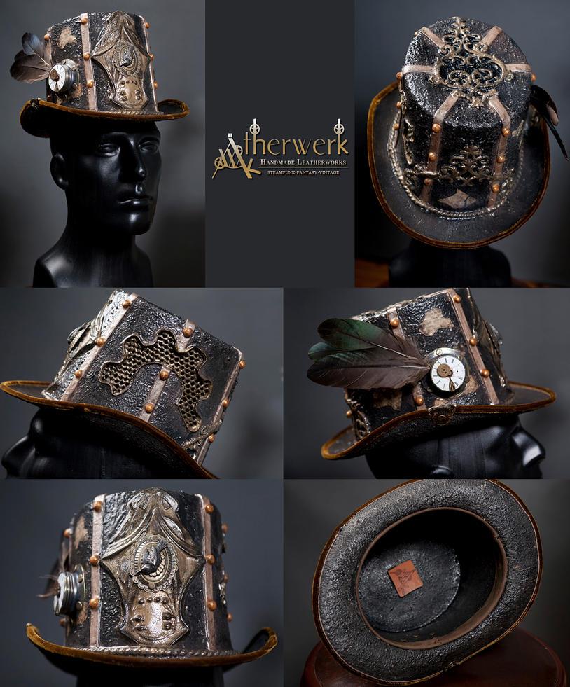 steampunk top hat by aetherwerk on deviantart. Black Bedroom Furniture Sets. Home Design Ideas