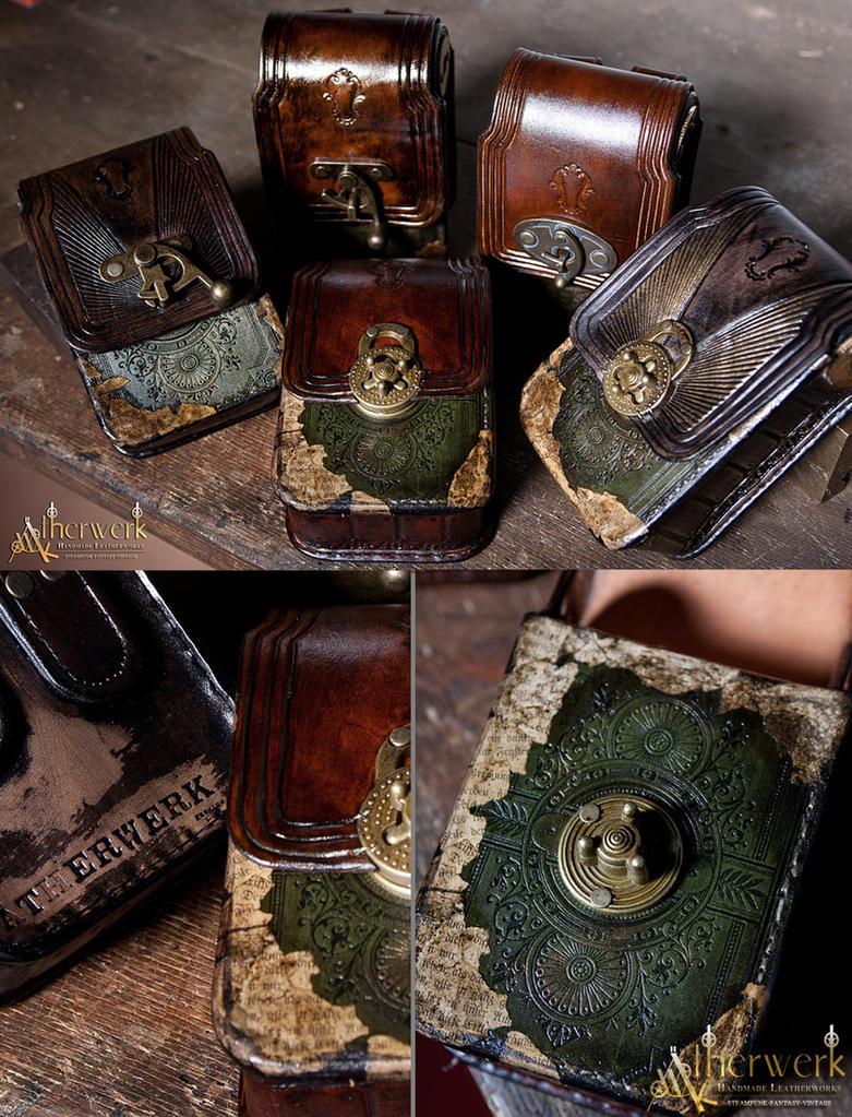 Victorian belt bags by aetherwerk on deviantart for Victorian steampunk decor