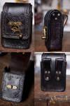 Victorian belt bag in black.